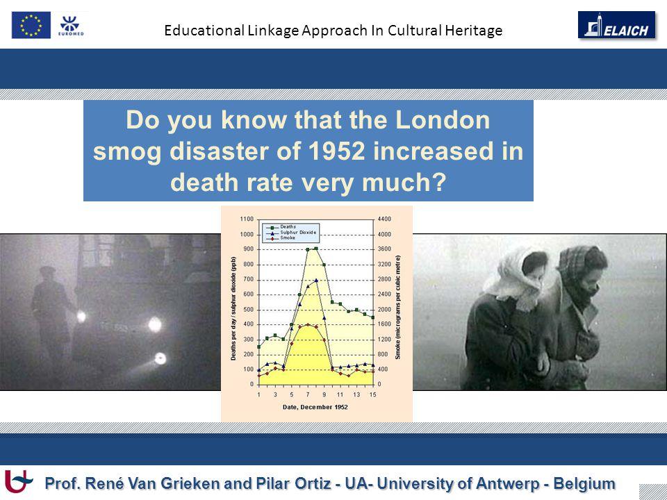 Educational Linkage Approach In Cultural Heritage Prof. René Van Grieken and Pilar Ortiz - UA- University of Antwerp - Belgium Do you know that the Lo