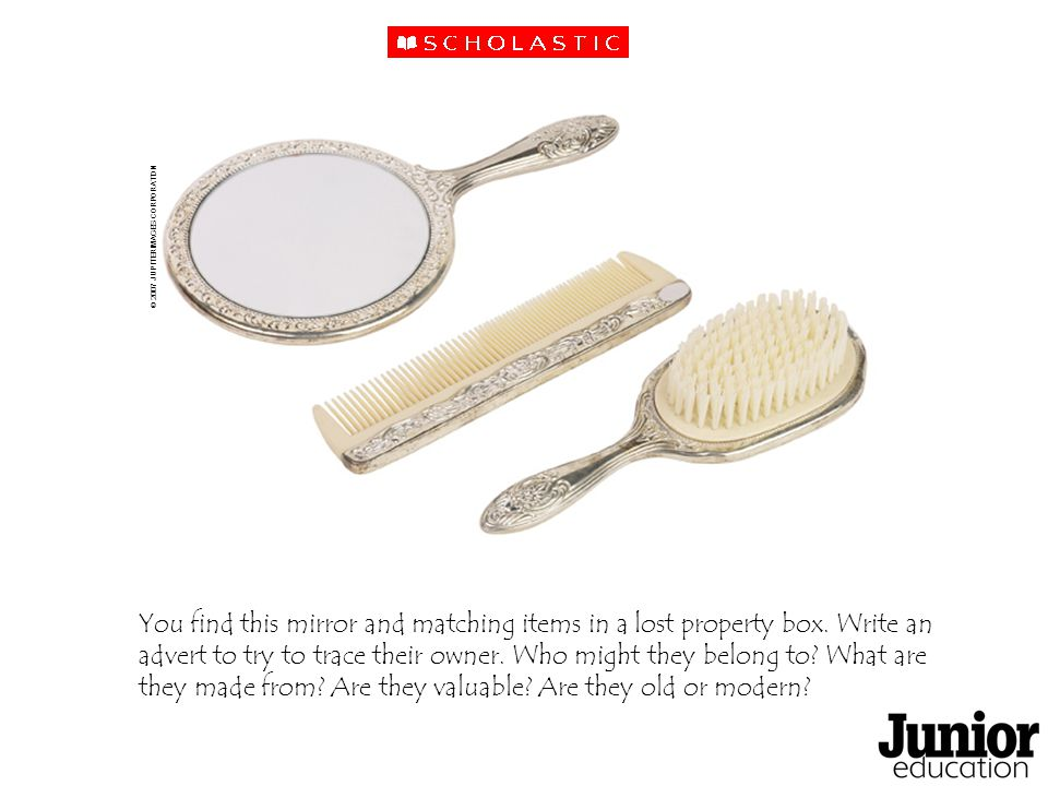 You find this mirror and matching items in a lost property box.