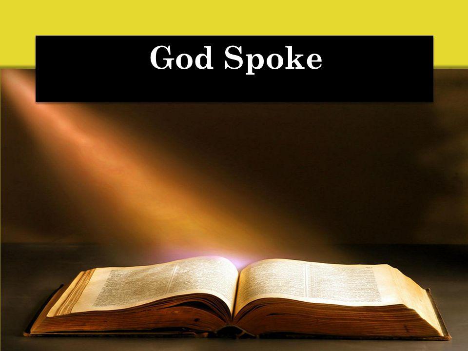 God Spoke