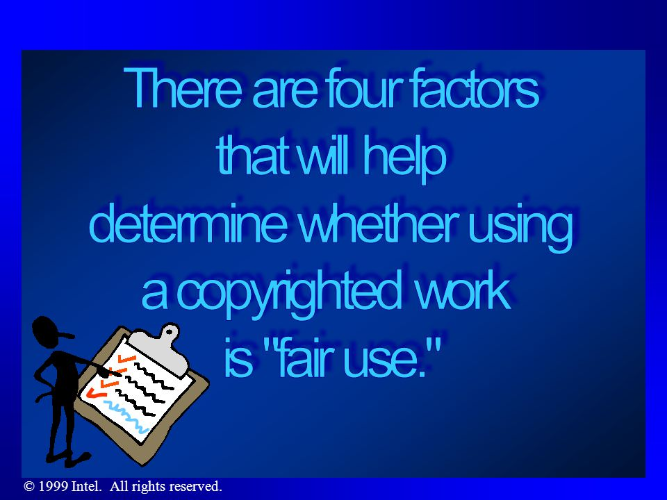 What is fair use .Sec.