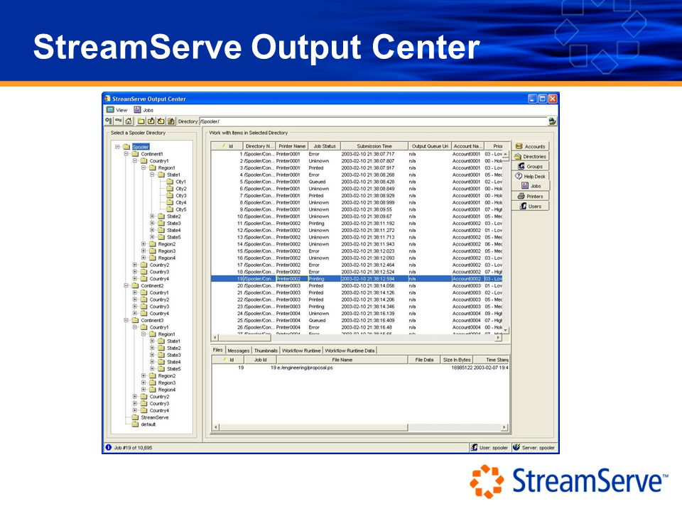 StreamServe Output Center