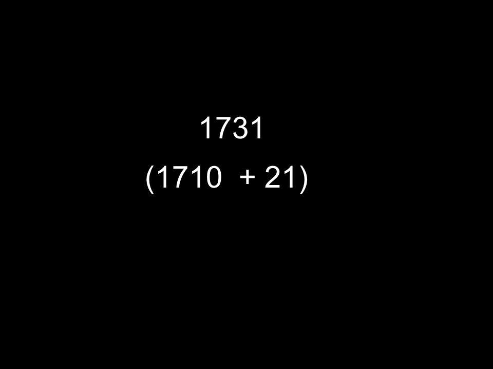 1731 (1710 + 21)