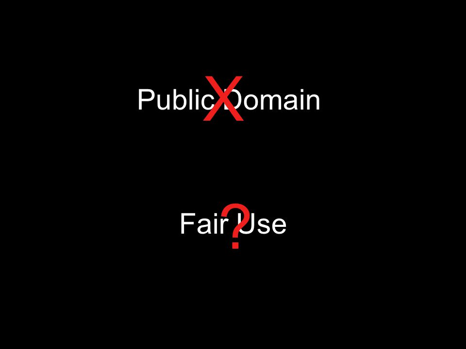 Public Domain X Fair Use ?