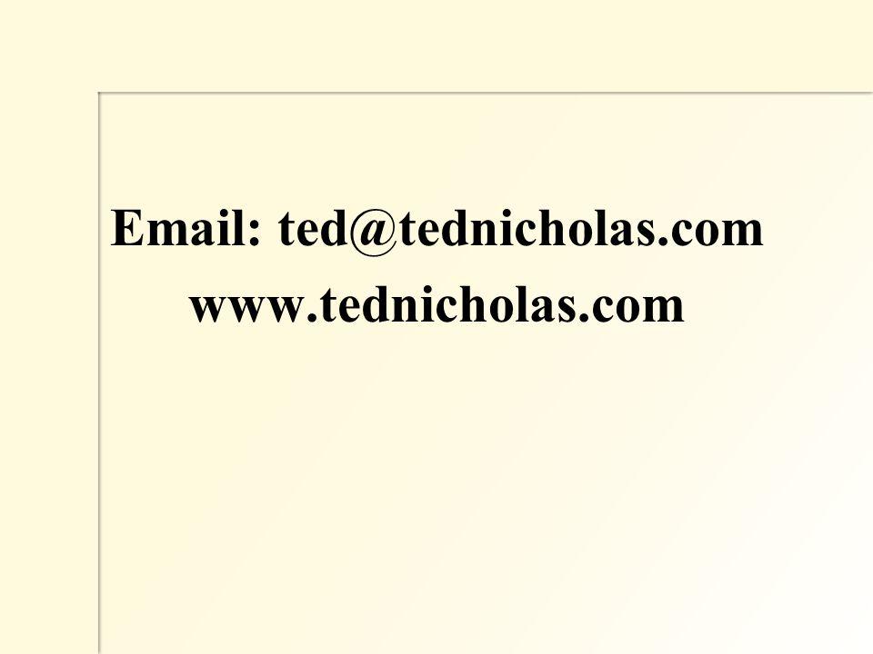 Email: ted@tednicholas.com www.tednicholas.com