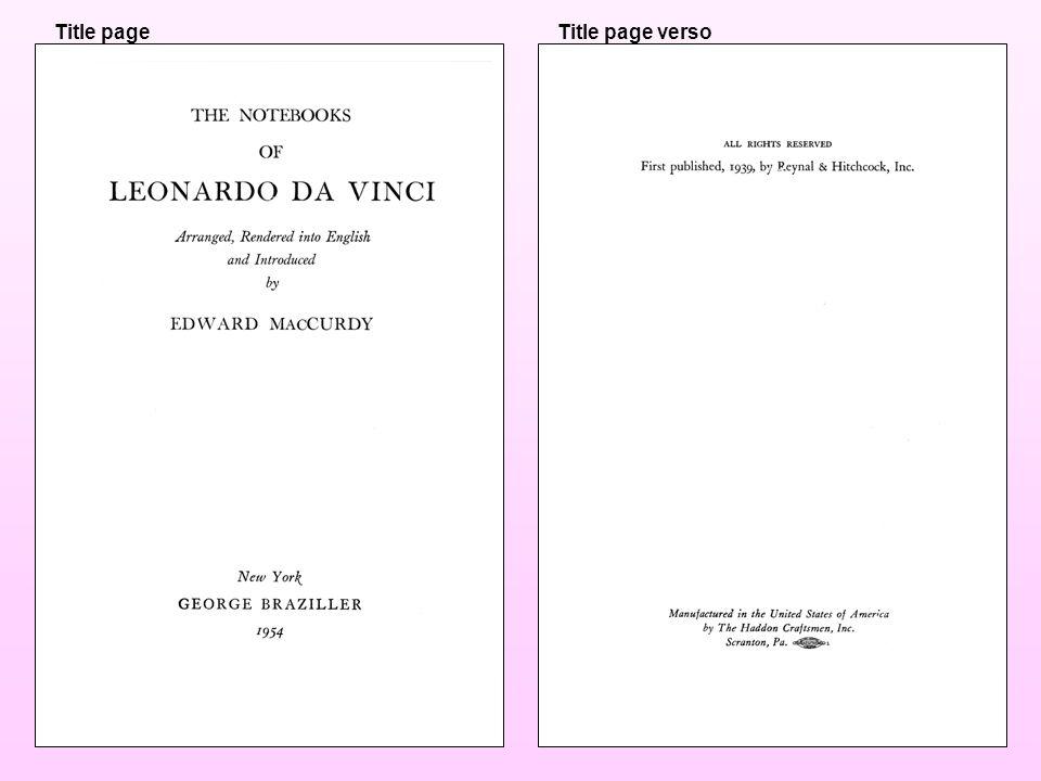 22.8ENTRY UNDER GIVEN NAME, ETC.22.8AGeneral rule 1000Leonardo, ‡c da Vinci, ‡d 1452-1519.