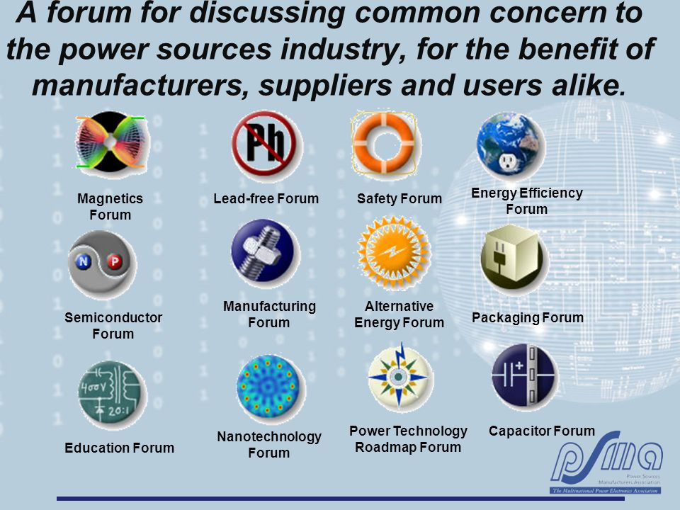 A forum for discussing common concern to the power sources industry, for the benefit of manufacturers, suppliers and users alike. Magnetics Forum Lead