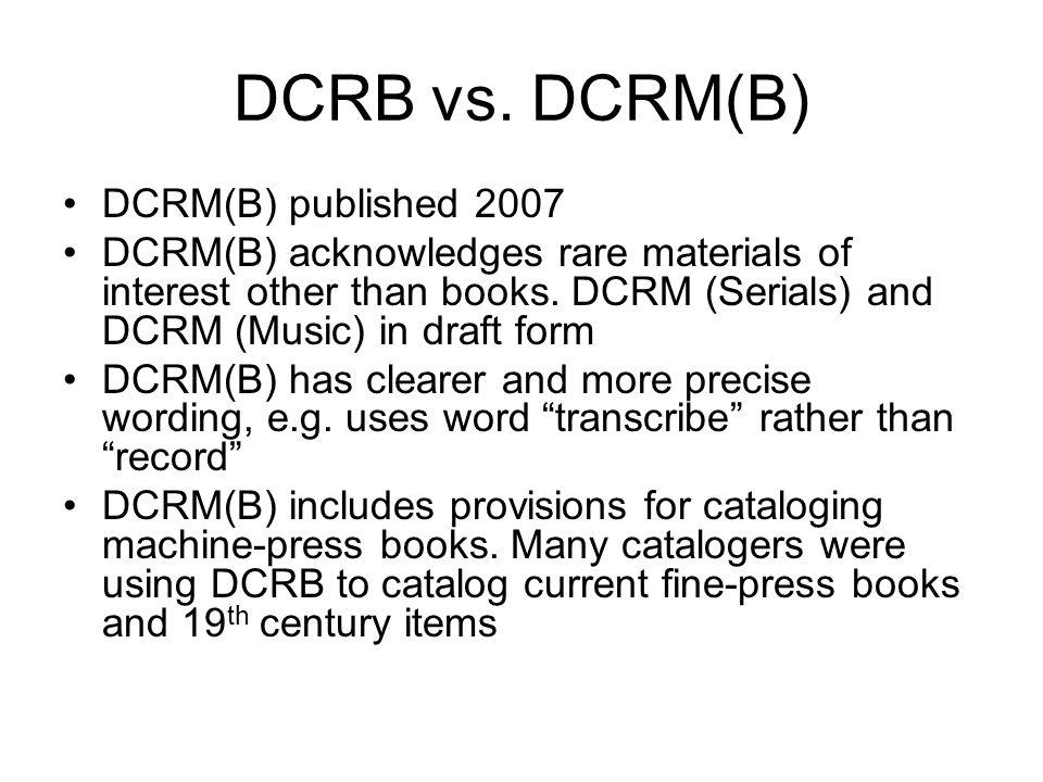 DCRB vs.