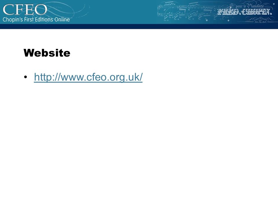 http://www.cfeo.org.uk/ Website