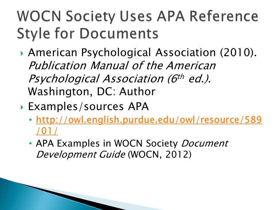  American Psychological Association (2010).