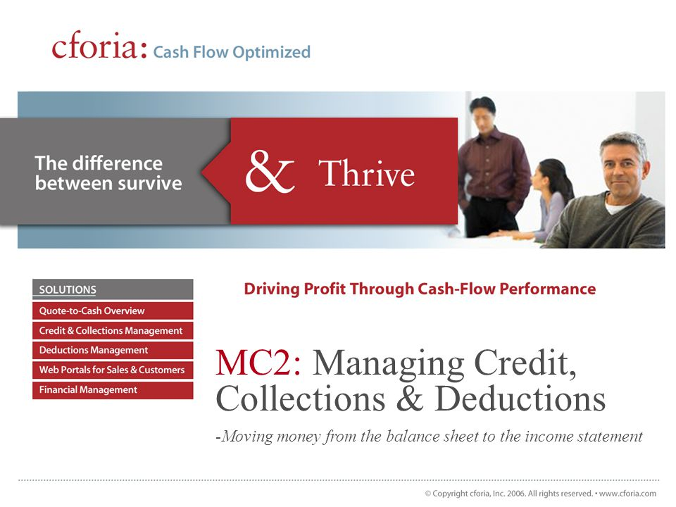 cforia: Success Drivers Technical –Designed for Mapics IFM and AM Financials Real-time integration Extension file-based Multi-currency and language Localization –No risk project No ERP system changes required All Cforia functionality is incremental –Few IT resources required to implement and maintain Loads in a few hours Trained and running in under 3 days