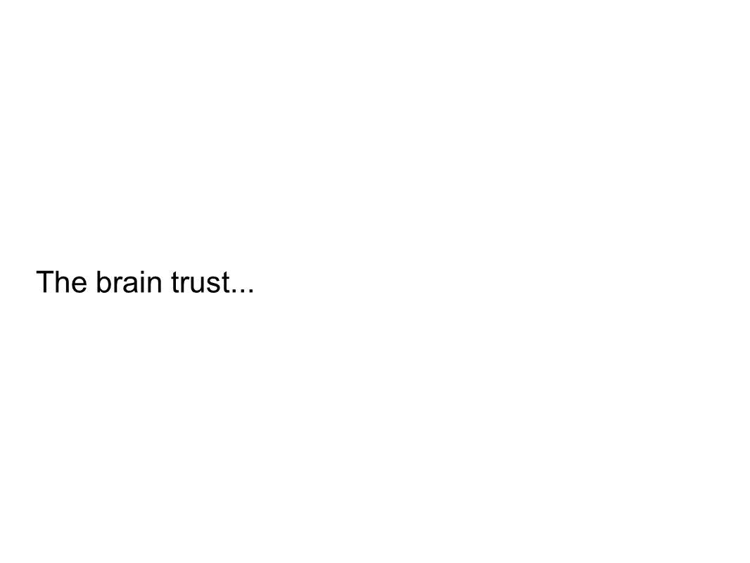 The brain trust...