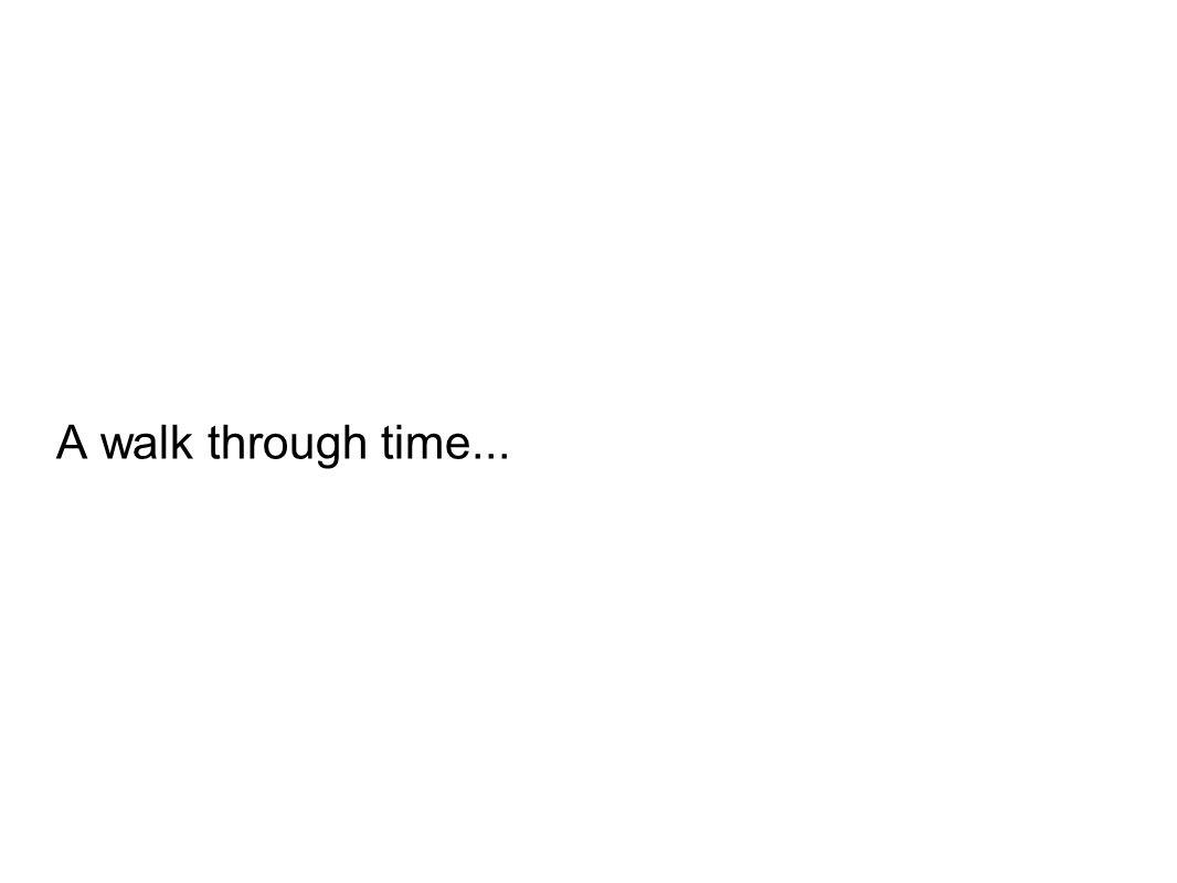 A walk through time...