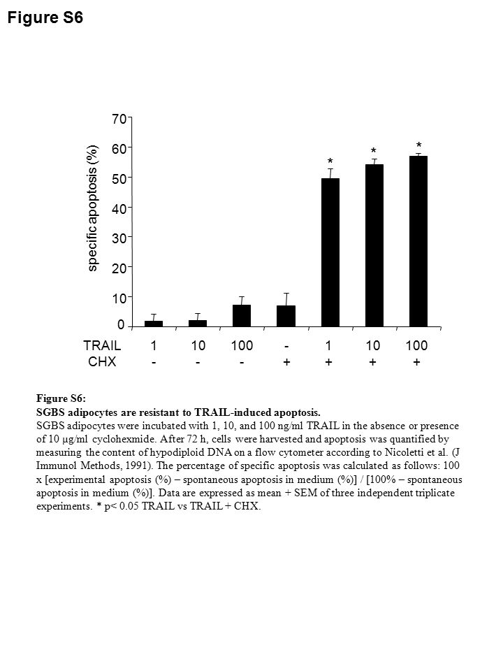 Table S1 amino acidamino acid sequencecaspase 92AIVD ↓ G8 149FFFD ↓ F1 158IALD ↓ T6 542LSTD ↓ E8 843LAWD ↓ V1, 6, 8 865YNID ↓ T1 877YLVD ↓ H1 965DDPD ↓ P3, 8 1016LEGD ↓ S8 1058IHID ↓ P6, 8 1274TATD ↓ R6, 8 1436ADED ↓ S8 1487PEVD ↓ P6 1586LSPD ↓ A1 1631LSPD ↓ F1 1635FLWD ↓ V1 1990FFQD ↓ V1 2014PELD ↓ Y6 2402AAVD ↓ L8 2457YGED ↓ L1 Table S1: Putative caspase cleavage sites in FASN protein Potential cleavage sites for caspase-1, -3, -6 and -8 in the amino acid sequence of fatty acid synthase (FASN) as identified by the web-based program GraBCas (http://www.uniklinikum ‑ saarland.de/einrichtungen/fachrichtungen/human genetik/software/) Bold: cleavage sites that would result in a protein fragment of detected size (96-116 kDa).