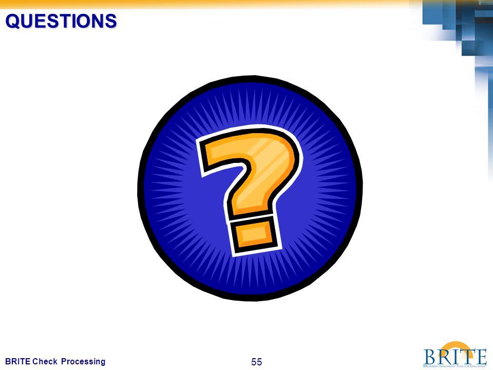 55 BRITE Check ProcessingQUESTIONS