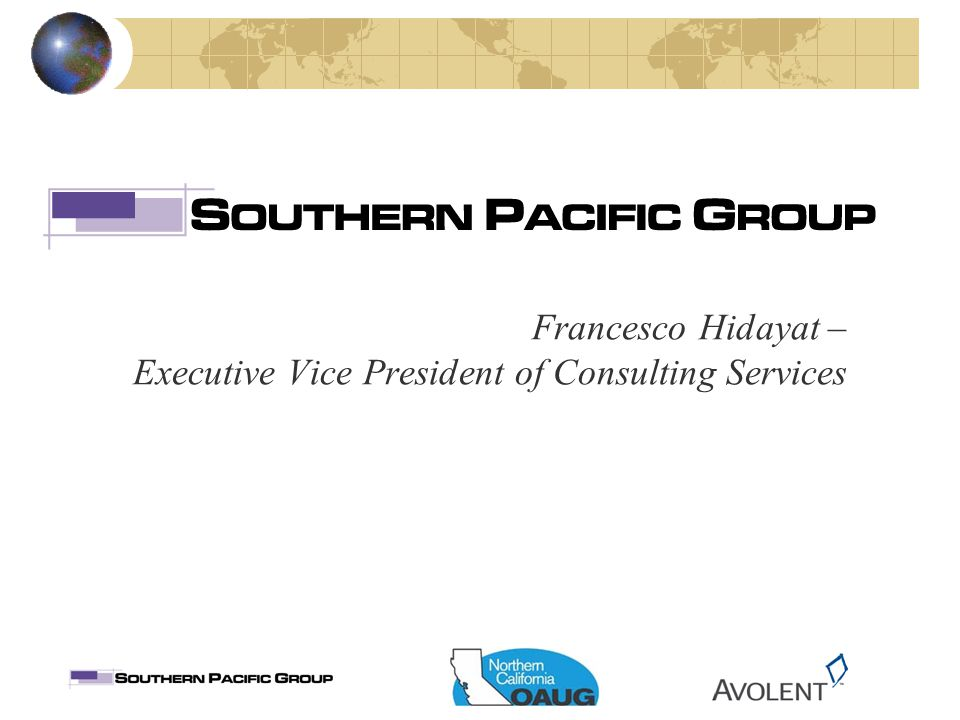 Francesco Hidayat – Executive Vice President of Consulting Services