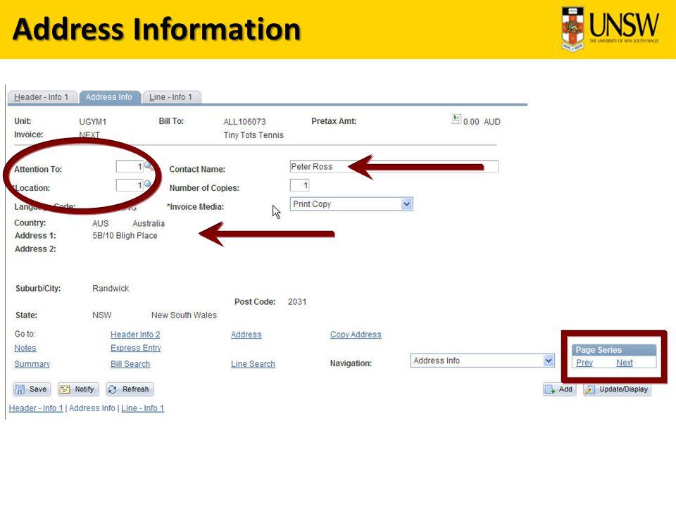 Address Information