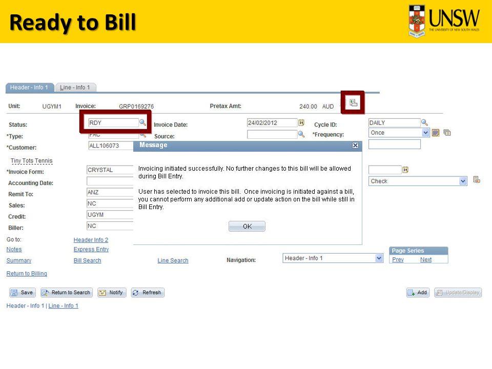 Ready to Bill