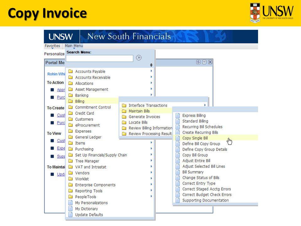 Copy Invoice