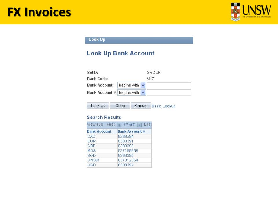 FX Invoices
