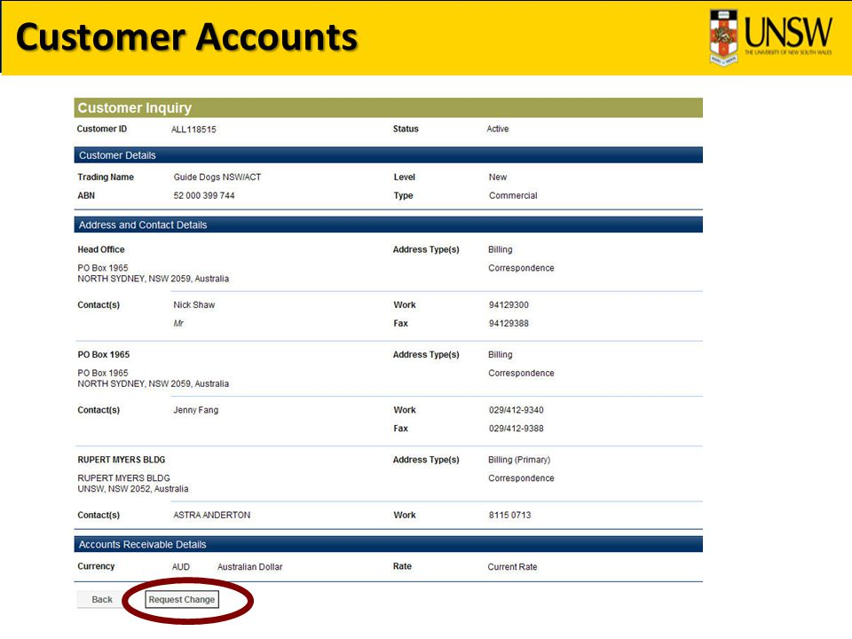Billing Fundamentals Most Faculties / Organisations have their own Bill Type Identifiers – the most commonly used is MSC