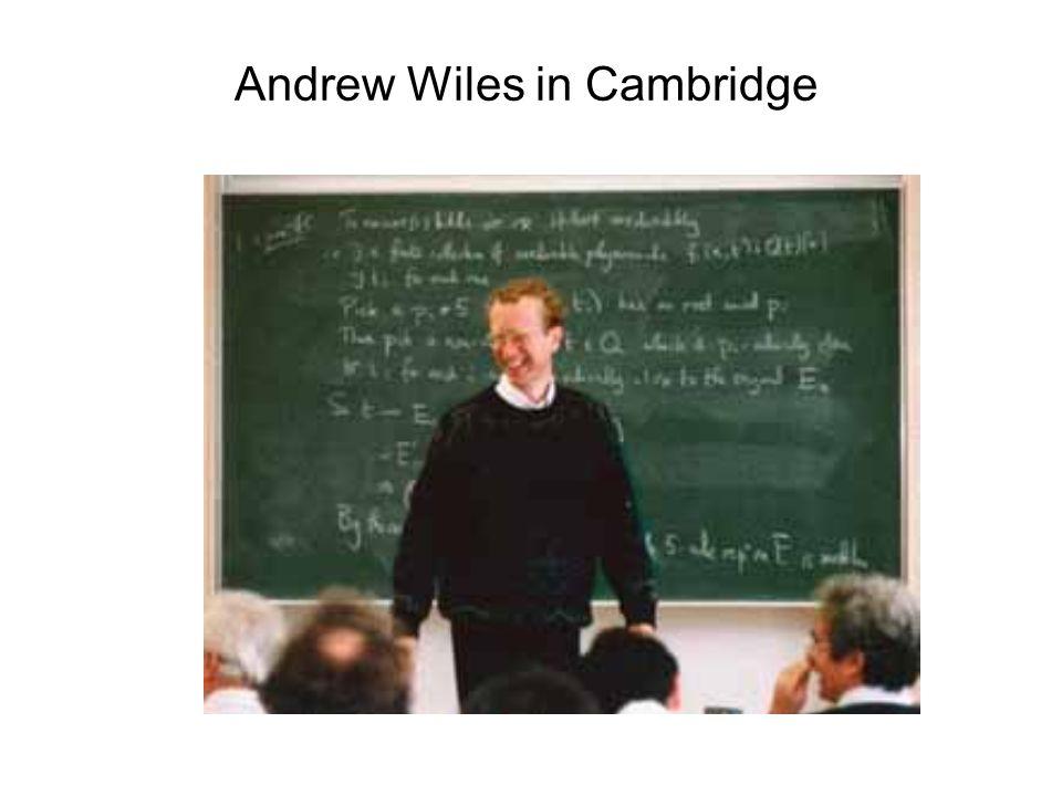 Andrew Wiles in Cambridge