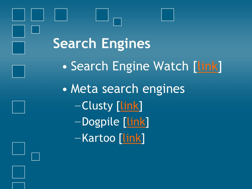 To Be Fruitful, Multiply! Multiple searches Multiple search engines