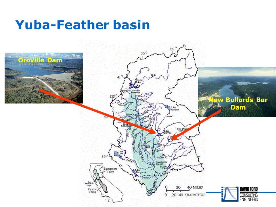 Yuba-Feather basin Oroville Dam New Bullards Bar Dam