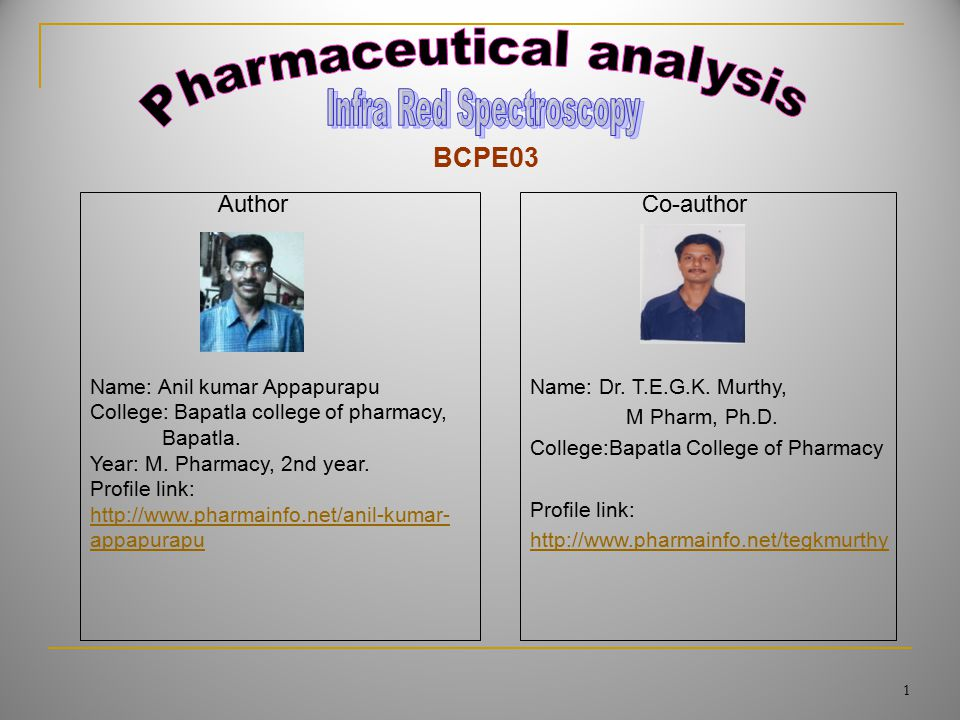 Name: Anil kumar Appapurapu College: Bapatla college of pharmacy, Bapatla.