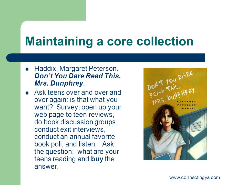 Maintaining a core collection Haddix, Margaret Peterson.