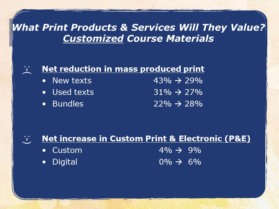 What Print Products & Services Will They Value.