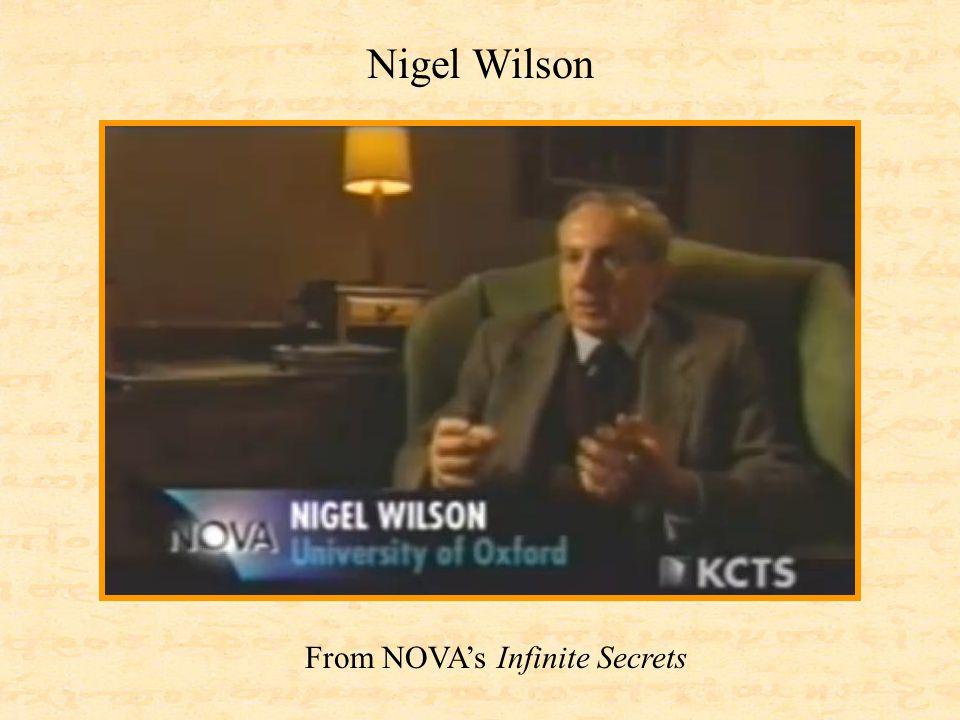 Nigel Wilson From NOVA's Infinite Secrets