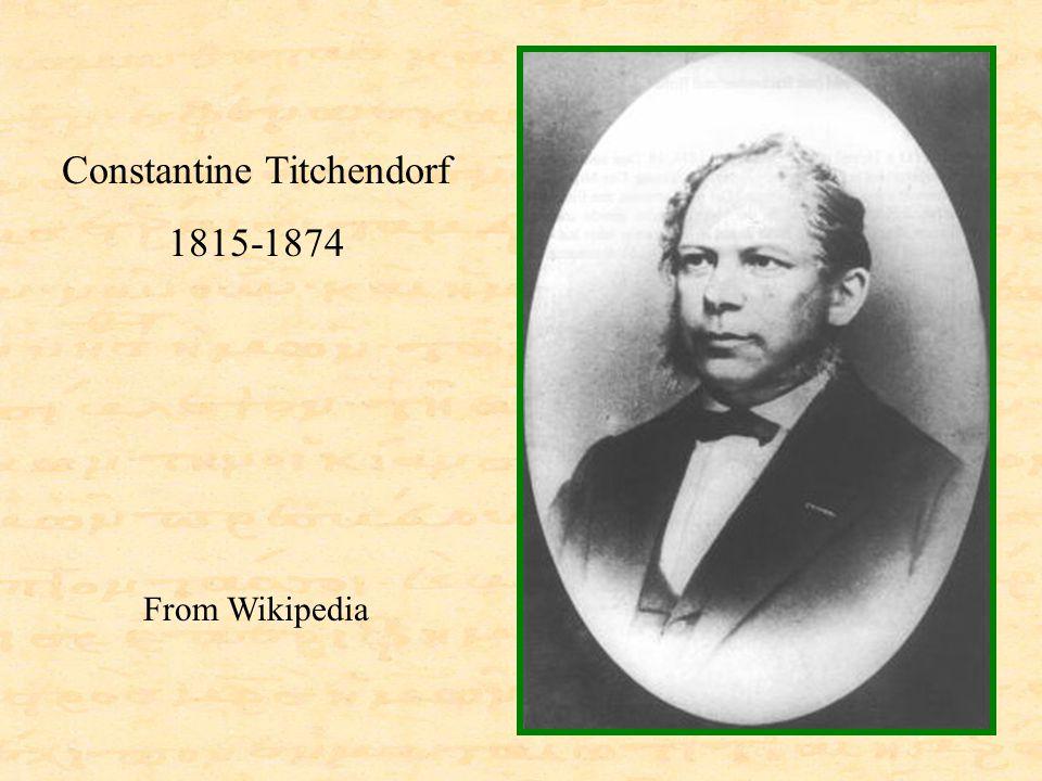 Constantine Titchendorf 1815-1874 From Wikipedia