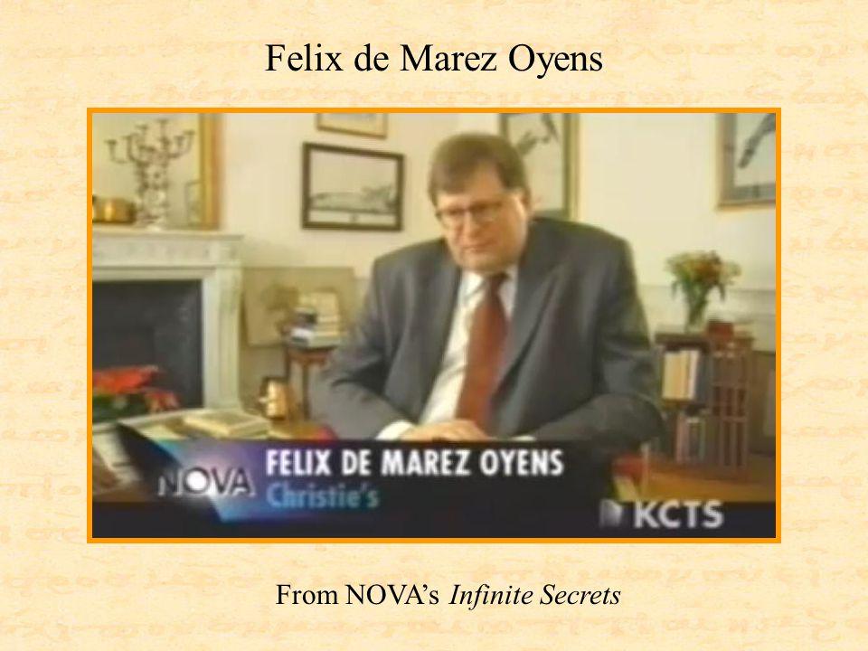 From NOVA's Infinite Secrets Felix de Marez Oyens