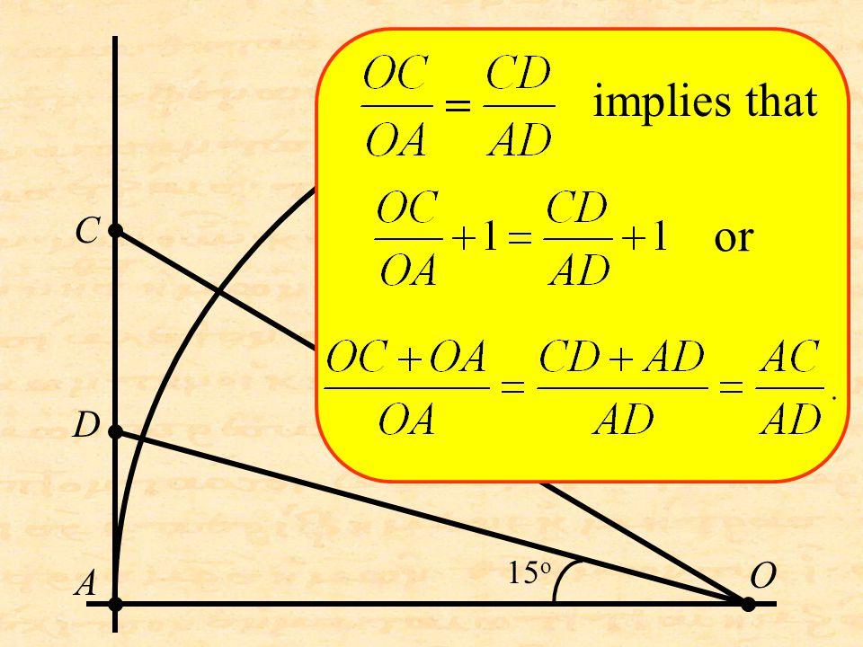O C D A implies that or 15 o