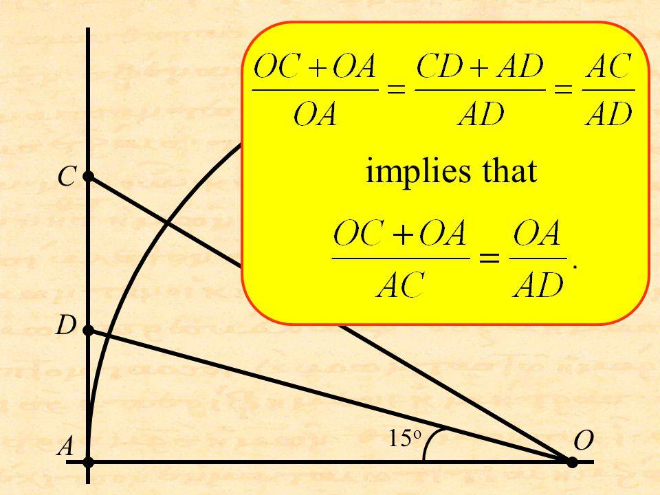 O C D A implies that 15 o