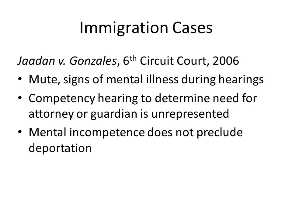 Immigration Cases Jaadan v.