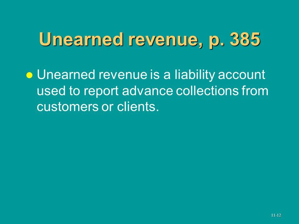 Unearned revenue, p.