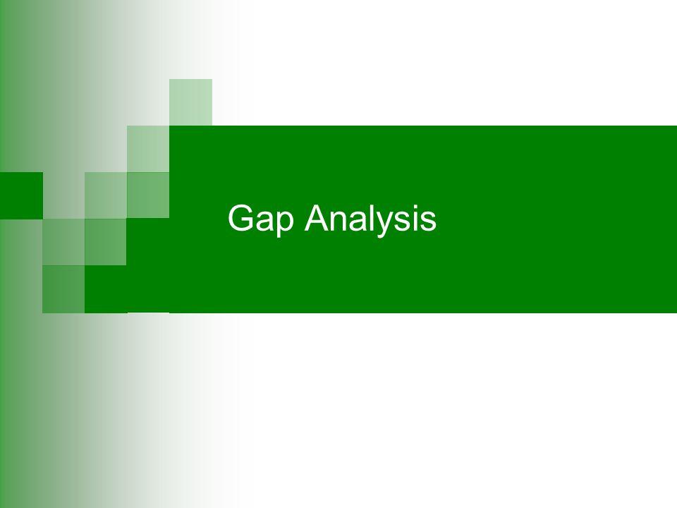 In-depth Gap Analyses….