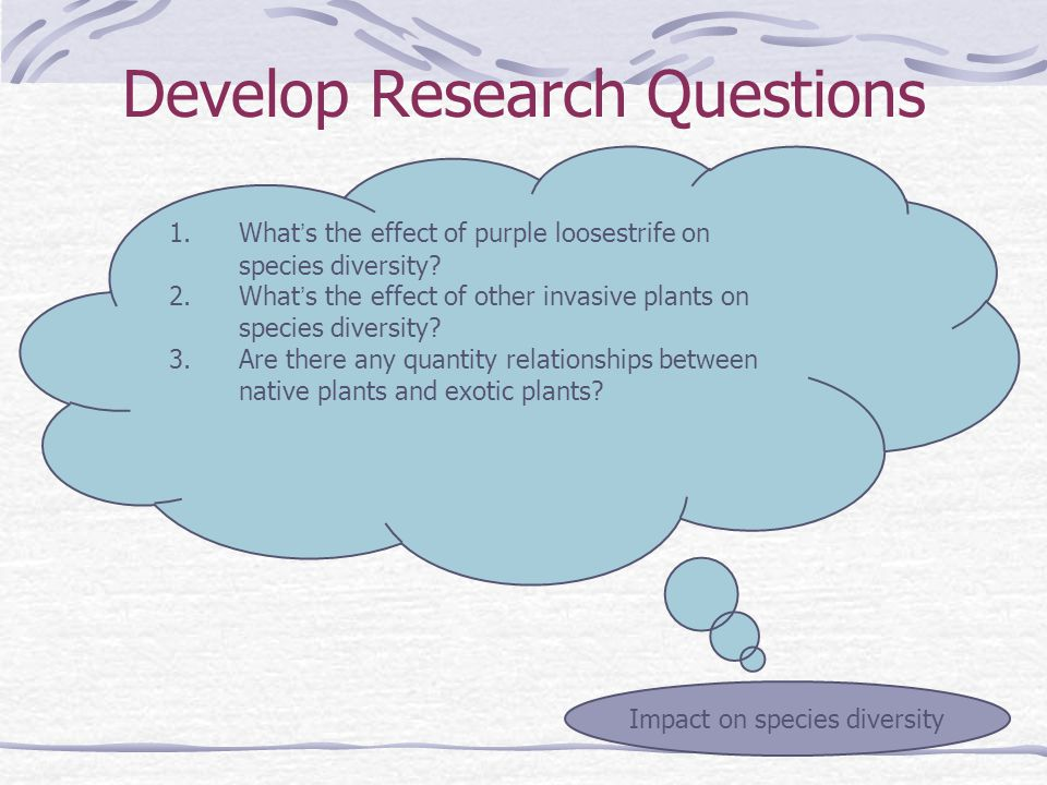 1.What ' s the effect of purple loosestrife on species diversity.