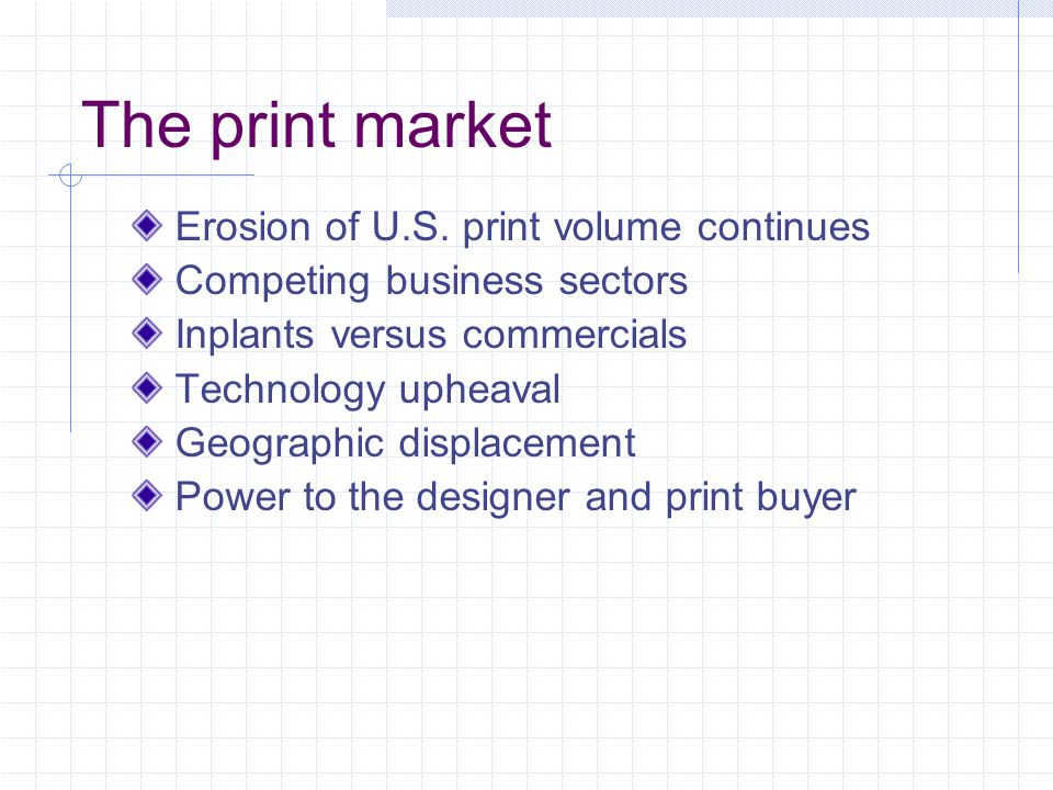 The print market Erosion of U.S.