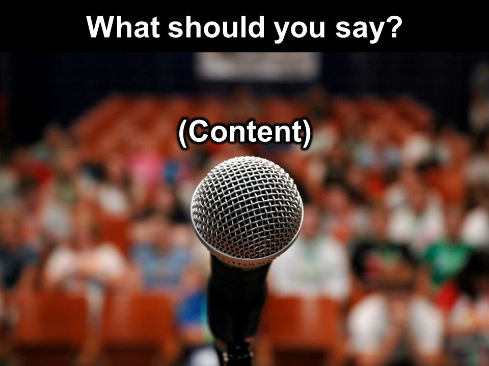 What should you say?