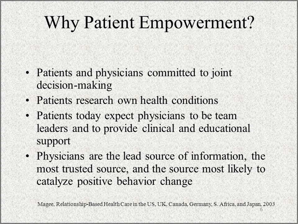 6 Why Patient Empowerment.