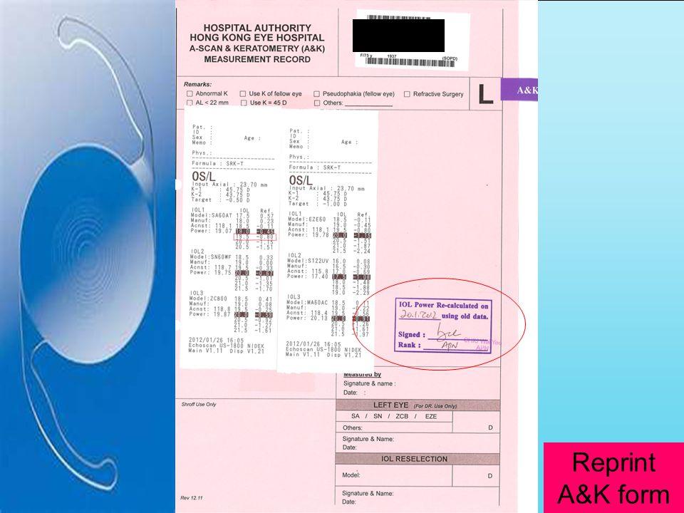 Reprint A&K form