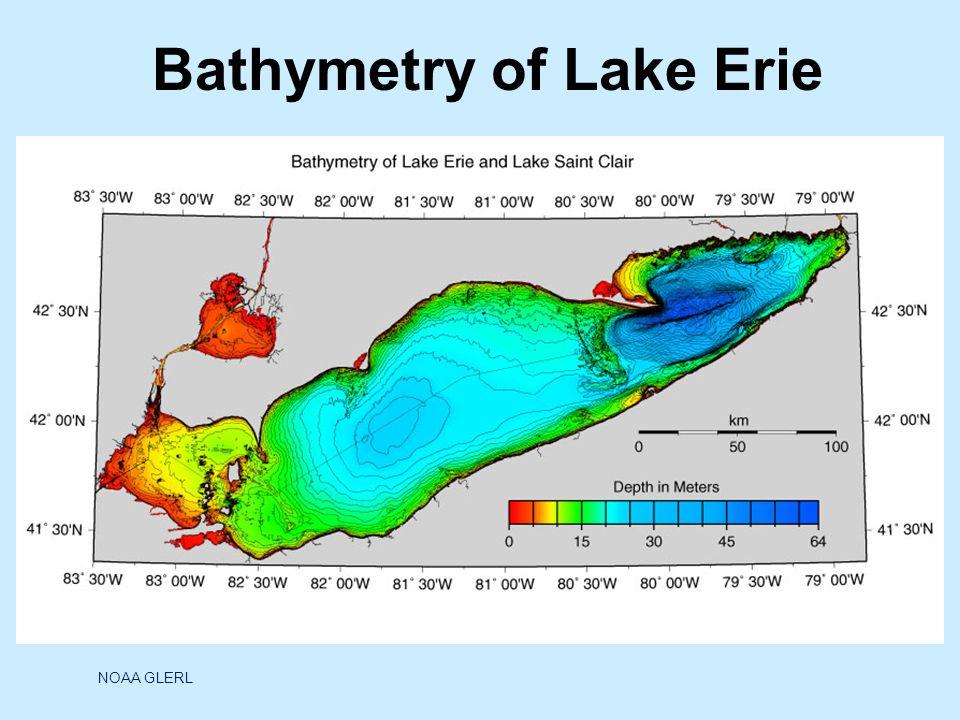 Bathymetry of Lake Erie NOAA GLERL