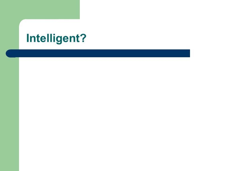 What is intelligence? computational part of the ability to achieve goals in the world