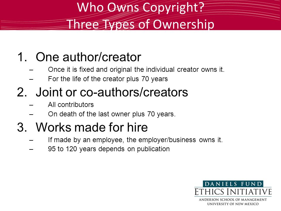 Who Owns Copyright.
