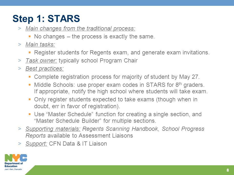 88 Step 1: STARS >Main changes from the traditional process:  No changes – the process is exactly the same.