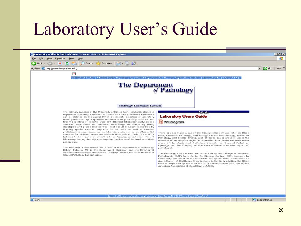 20 Laboratory User's Guide