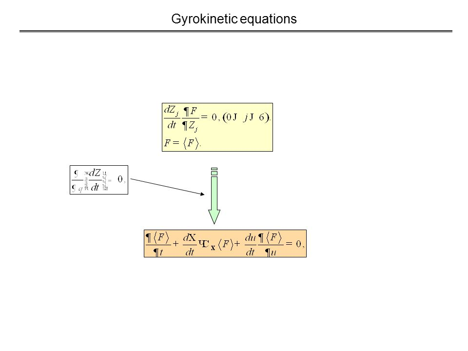 Gyrokinetic equations