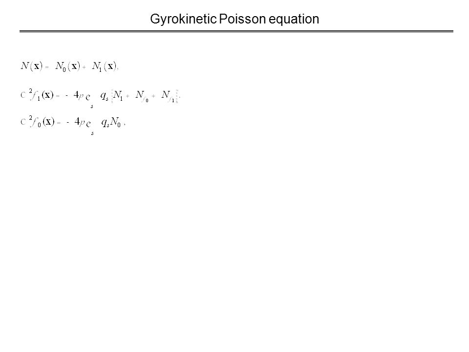 Gyrokinetic Poisson equation
